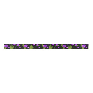 black and purple 2 Yard Spool ribbon Satin Ribbon