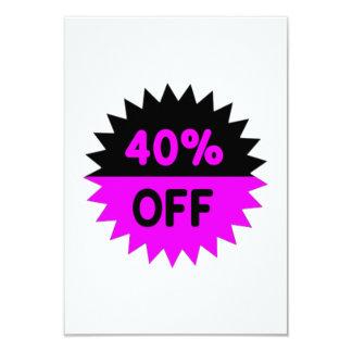 Black and Purple 40 Percent Off Personalized Invitation