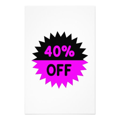 Black and Purple 40 Percent Off Stationery