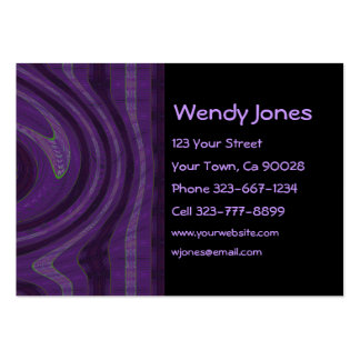 black and purple abstract large business cards (Pack of 100)