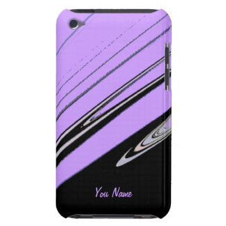 Black and Purple Abstract iPod Case Case-Mate iPod Touch Case