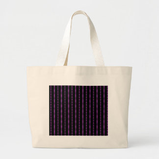 Black and Purple Abstract Striped Canvas Bags