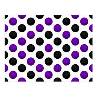 Black and Purple Basketball Pattern Postcard