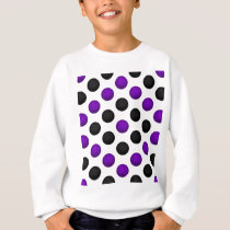 Black and Purple Basketball Pattern Sweatshirt