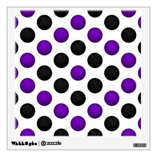 Black and Purple Basketball Pattern Wall Sticker