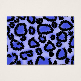 Black and Purple-Blue Leopard Print Pattern. Business Card
