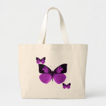 Black and Purple butterfly bag