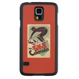 Black and Purple Clothed Skier Carved® Maple Galaxy S5 Case