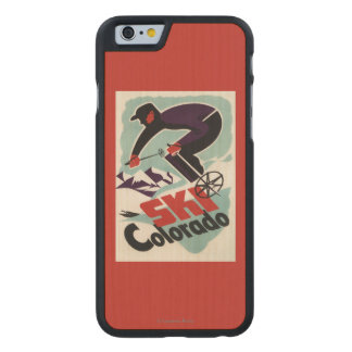Black and Purple Clothed Skier Carved® Maple iPhone 6 Slim Case