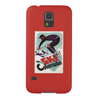 Black and Purple Clothed Skier Galaxy S5 Case