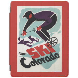 Black and Purple Clothed Skier iPad Smart Cover