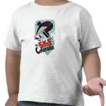 Black and Purple Clothed Skier Tee Shirt