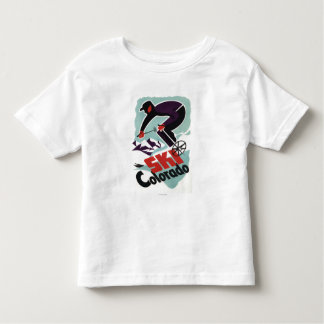 Black and Purple Clothed Skier Toddler T-shirt