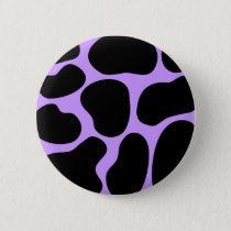 Black and Purple Cow Print Pattern. Button