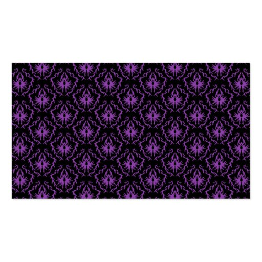 Black and Purple Damask Pattern. Gothic. Business Card