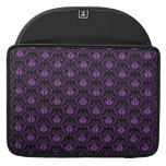 Black and Purple Damask Pattern. Gothic. Sleeves For MacBook Pro