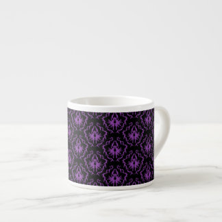 Black and Purple Damask Pattern. Gothic. Espresso Cup