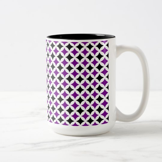 Black and Purple Diamond Coffee Mug