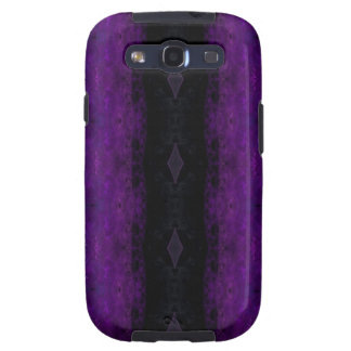 Black and Purple Diamond Stripe Galaxy S3 Case