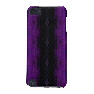 Black and Purple Diamond Stripe iPod Touch (5th Generation) Cover