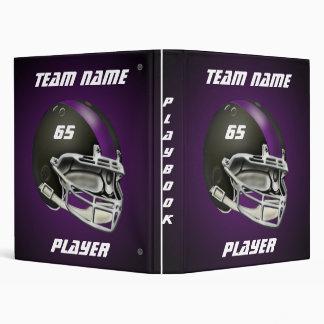 Black and Purple Football Helmet Playbook Binder