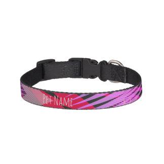 Black and Purple Geometric Dog Collar
