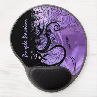 Black and Purple Goth Pattern Gel Mouse Pad