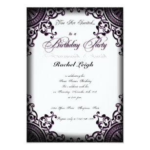 scroll birthday invitations zazzle