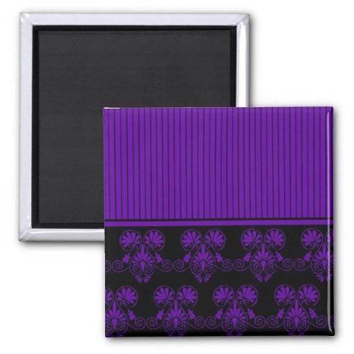 Black and Purple Heart Pattern Refrigerator Magnet