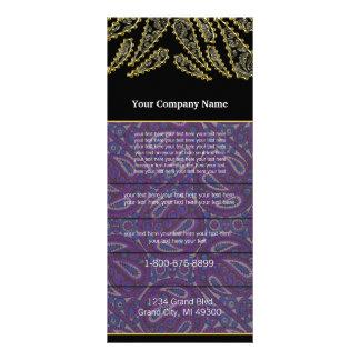 Black and Purple Paisley Swirled Rack Card