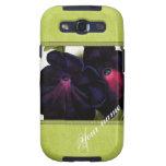 Black and Purple Petunias Samsung Galaxy SIII Covers