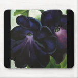Black-and-Purple-Petunias Mouse Mats