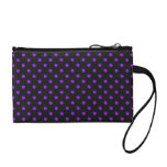 Black and Purple Polka Dot Coin Purses