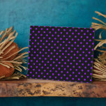 Black and Purple Polka Dot Display Plaques