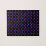 Black and Purple Polka Dot Jigsaw Puzzles