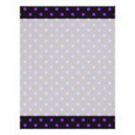 Black and Purple Polka Dot Letterhead Template