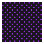 Black and Purple Polka Dot Photographic Print