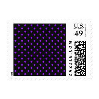 Black and Purple Polka Dot Postage