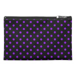 Black and Purple Polka Dot Travel Accessories Bags
