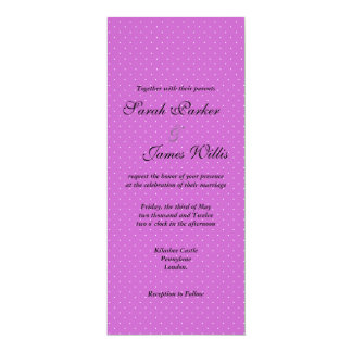 Black and purple Polka party/wedding invite