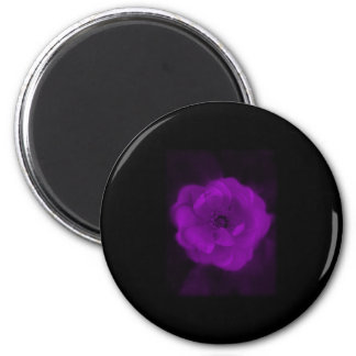 Black and Purple Rose. 2 Inch Round Magnet