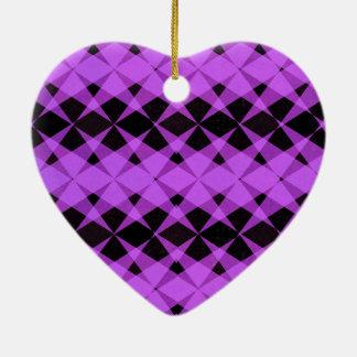Black and purple stars pattern ceramic ornament