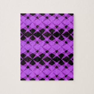 Black and purple stars pattern jigsaw puzzle