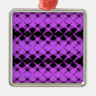 Black and purple stars pattern metal ornament