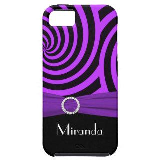Black and Purple Swirly Stripes iPhone 5 Vibe iPhone SE/5/5s Case