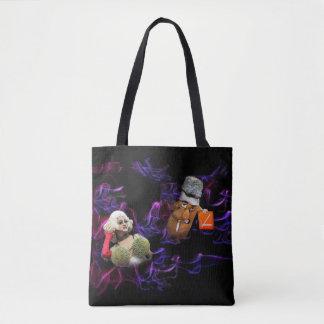 Black and Purple Tote Bag - Funny No Smoking Image