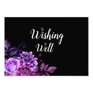 Black and purple wishing well. Wedding insert card