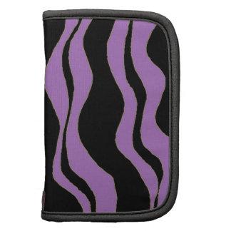 Black and Purple Zebra Stripes Folio Planners