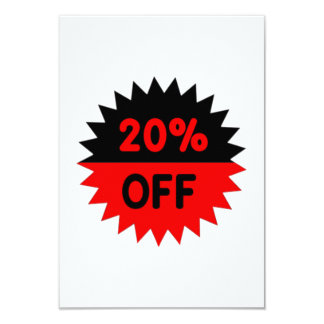 Black and Red 20 Percent Off Announcement