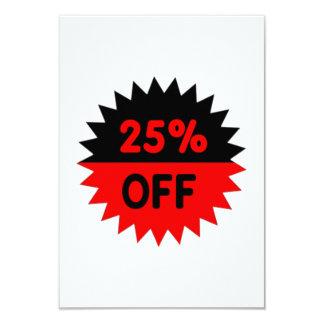 Black and Red 25 Percent Off Custom Invites